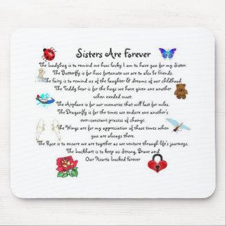 Las hermanas son para siempre poema mouse pad