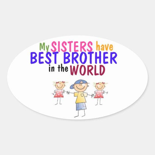 Las hermanas tienen el mejor pegatina de Brother