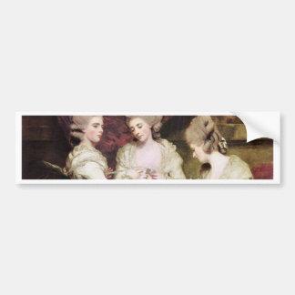Las hermanas Waldegrave de sir Joshua de Reynolds Pegatina Para Auto