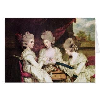Las hermanas Waldegrave de sir Joshua de Reynolds Tarjeta De Felicitación