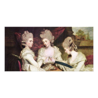 Las hermanas Waldegrave de sir Joshua de Reynolds Tarjeta Personal Con Foto