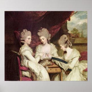 Las hermanas Waldegrave de sir Joshua Reynolds Póster