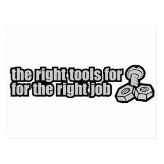 Las herramientas de la derecha para el trabajo cor postal
