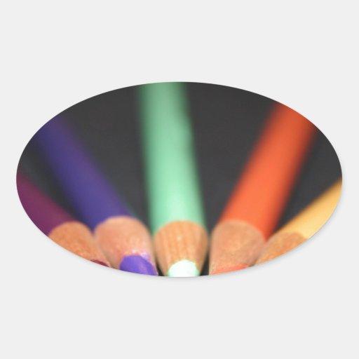 Las herramientas del artista calcomania óval