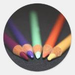 Las herramientas del artista pegatinas redondas
