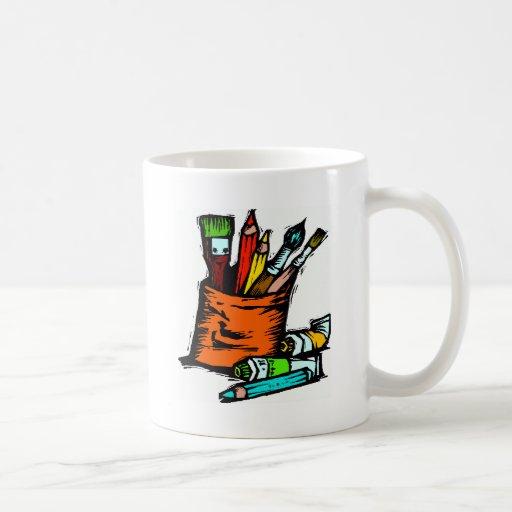 las herramientas del artista taza