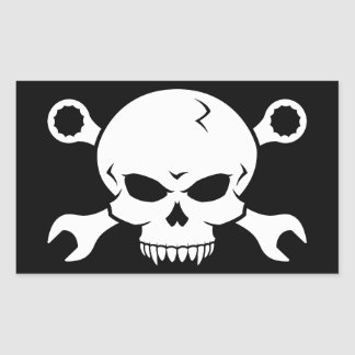 """Las herramientas del cráneo """"n"""" - atornille al pegatina rectangular"""