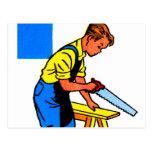 Las herramientas retras del juguete de los niños postal