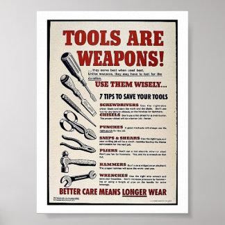 ¡Las herramientas son armas! Póster