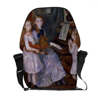 Las hijas de Catulle Mendes en el piano, 1888 Bolsa De Mensajeria