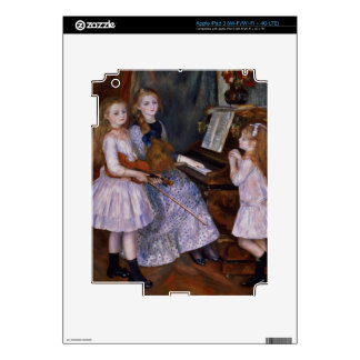Las hijas de Catulle Mendes en el piano, 1888 iPad 3 Pegatina Skin