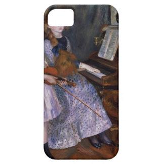 Las hijas de Catulle Mendes en el piano, 1888 iPhone 5 Fundas