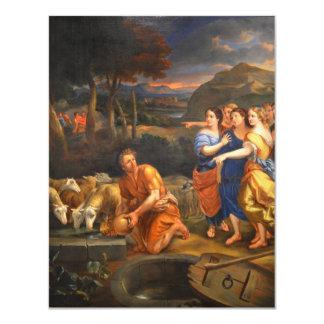 """Las hijas de Jethro de Theophile Hamel 1838 Invitación 4.25"""" X 5.5"""""""
