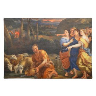Las hijas de Jethro de Theophile Hamel 1838 Manteles Individuales