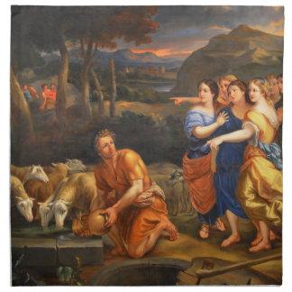 Las hijas de Jethro de Theophile Hamel 1838 Servilletas