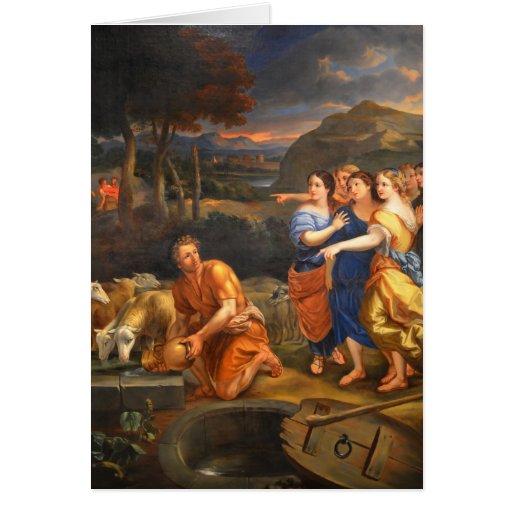 Las hijas de Jethro de Theophile Hamel 1838 Felicitacion