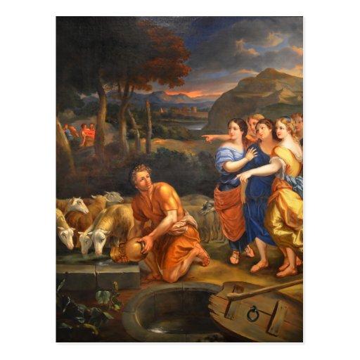 Las hijas de Jethro de Theophile Hamel 1838 Postales