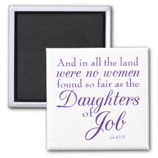 Las hijas del trabajo imán cuadrado
