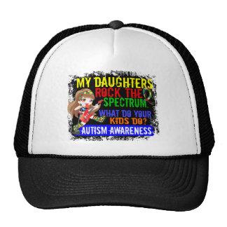 Las hijas oscilan el autismo del espectro gorros bordados