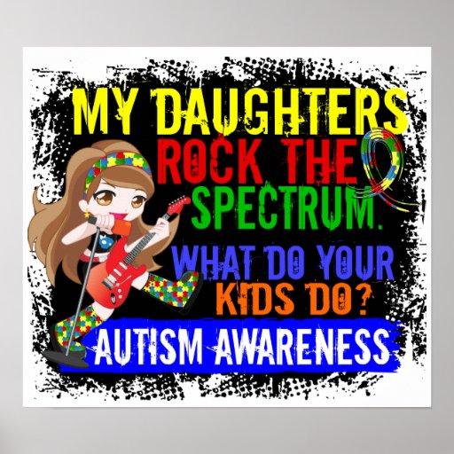 Las hijas oscilan el autismo del espectro impresiones