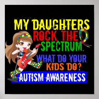Las hijas oscilan el autismo del espectro poster