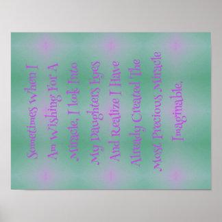 Las hijas rosadas verdes son cita de los milagros póster