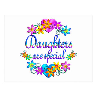 Las hijas son especiales tarjeta postal