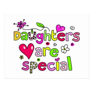 Las hijas son especiales tarjetas postales