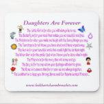 Las hijas son para siempre poema Mousepad Alfombrillas De Raton