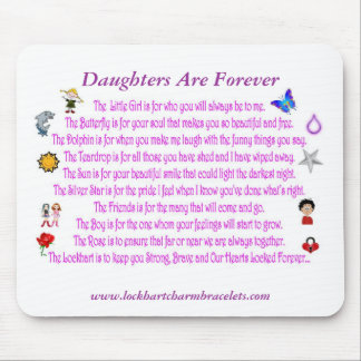 Las hijas son para siempre poema Mousepad