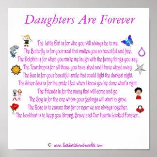 Las hijas son para siempre poema temático con los  póster