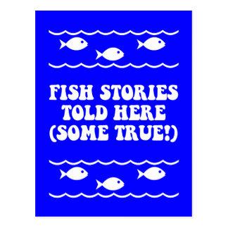 Las historias de los pescados dijeron aquí tarjetas postales
