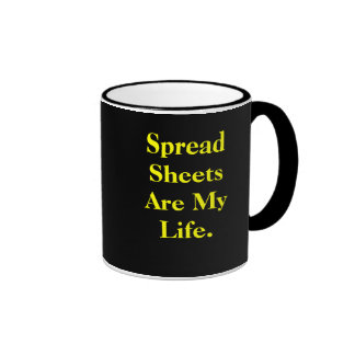 Las hojas de balance son mi vida - cita del trabaj tazas de café