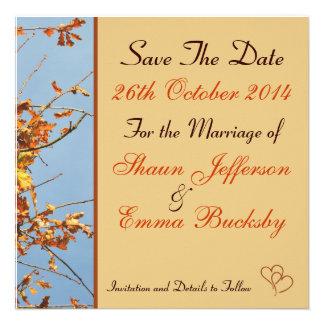 Las hojas de la caída ahorran la fecha invitan comunicado