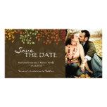 Las hojas de la caída ahorran la fecha Photocard Tarjetas Personales Con Fotos