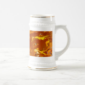 Las hojas de oro brillantes coloridas Stein asalta Tazas