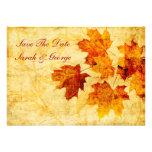 las hojas de otoño de la caída ahorran la invitaci