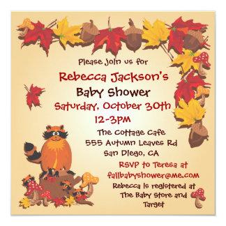 Las hojas de otoño de la caída con la fiesta de invitación 13,3 cm x 13,3cm