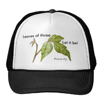 ¡Las hojas del gorra de la hiedra venenosa… de tre