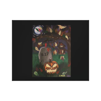 Las hojas del otoño pasado/la calabaza del impresiones en lienzo estiradas