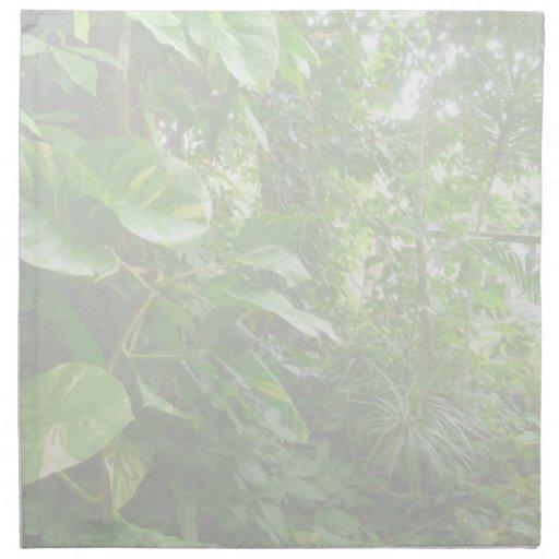 Las hojas gigantes eliminan la opinión de la selva servilletas imprimidas