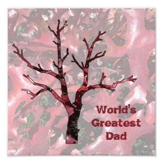 Las hojas más grandes del roble rojo del papá del arte fotográfico