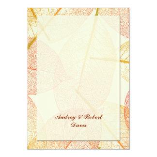 Las hojas presionadas personalizadas agradecen invitación 11,4 x 15,8 cm