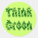 """Las hojas y las flores """"piensan verde """" etiquetas"""