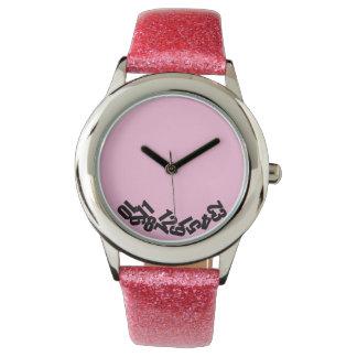 """""""Las horas muertas"""" en rosa, divertido y original Relojes"""