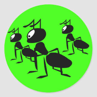 ¡Las hormigas van a marchar - añada su propio Pegatina Redonda