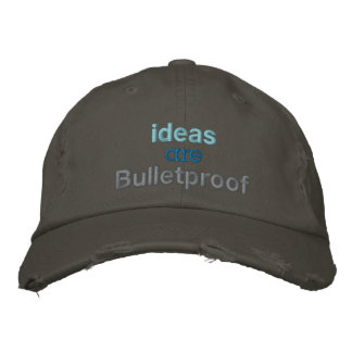 Las ideas son a prueba de balas gorra de béisbol bordada