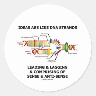 Las ideas son como los filamentos de la DNA que Pegatina Redonda