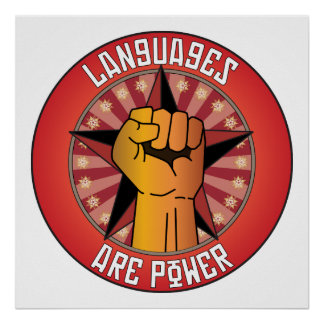 Las idiomas son poder póster