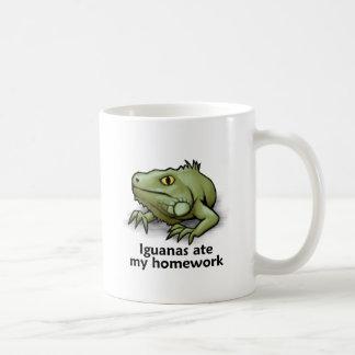Las iguanas comieron mi preparación tazas de café
